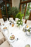 Wedding table settings Royalty Free Stock Images