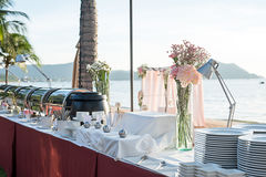 Wedding table Setup Royalty Free Stock Images