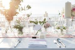 Wedding table Setup Stock Images