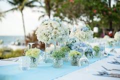 Wedding table Setup Royalty Free Stock Photography