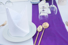 Wedding table setup Royalty Free Stock Photography