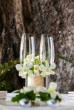 Wedding table setup outdoor royalty free stock photo