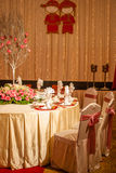 Wedding table setup Royalty Free Stock Images