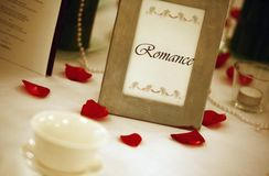 Wedding table. shallow focus Stock Images