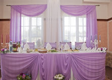 Wedding table-stock photo. Wedding table with food and drinks stock photos Royalty Free Stock Photo