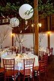 Wedding tables Stock Image