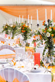 Wedding tables Royalty Free Stock Images