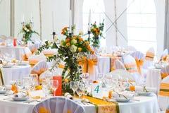 Wedding tables Stock Photo