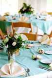 Wedding tables with cookie favors Stock Photos