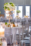 Wedding Tables and Decorations Royalty Free Stock Photos