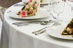 Wedding tables set Royalty Free Stock Photo