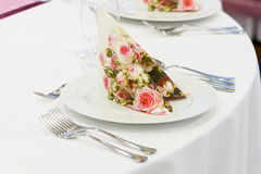 Wedding tables set Royalty Free Stock Photography