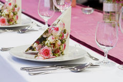 Wedding tables set Stock Photography
