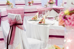 Wedding tables set Royalty Free Stock Photo