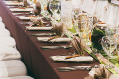 Wedding tables set Stock Photo