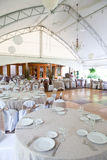 Wedding tables in a tent like structure Royalty Free Stock Photography