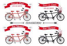 Free Wedding Tandem Bicycles, Vector Set Stock Photo - 38522800