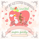 Wedding tandem Stock Images