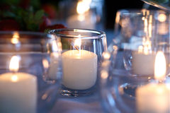 Wedding Tea Lights Stock Photography