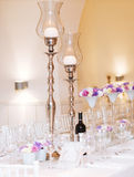 Wedding teble setup Royalty Free Stock Photo
