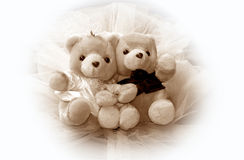 Wedding teddy bears royalty free stock photo