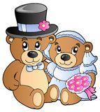 Wedding teddy bears Royalty Free Stock Photography