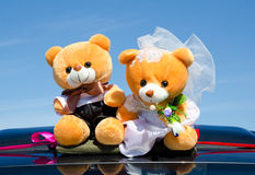 Wedding teddy bears Stock Photography