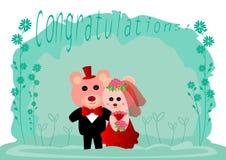 Wedding teddy bears Stock Photo
