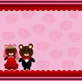 Wedding teddy bears Stock Photos