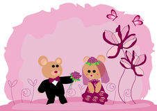 Wedding teddy bears Royalty Free Stock Images