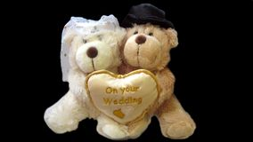 Wedding teddy bears Stock Photos