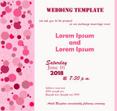 Wedding template rose. Invitation Template. Flowers pink, pink circle. White background. Can be used for wedding invitations, birthday and other holidays. Vector Royalty Free Stock Image