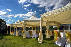 Wedding tent stock photo