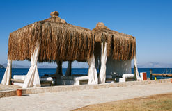 Wedding tent on the beach Royalty Free Stock Images
