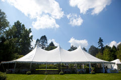 Wedding tent with blue sky Royalty Free Stock Image