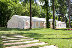 Wedding tent stock image