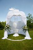 Wedding tent in park Royalty Free Stock Photo