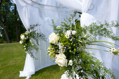 Wedding tent in park Royalty Free Stock Photography