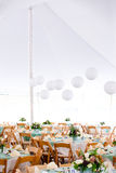 Wedding tent and tables Royalty Free Stock Photography