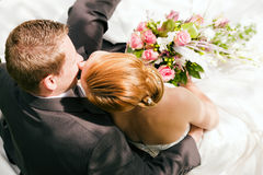 Wedding - ternura Fotografia de Stock Royalty Free
