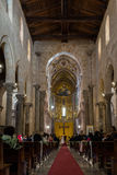 Wedding in the 13th century Cefalu Cathedral. Stock Photo