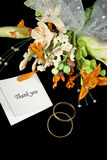 Wedding Thank You Royalty Free Stock Photography