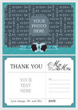 Wedding Thank You Notes. Vector Card for Thank You Notes from the new Mr. and Mrs Royalty Free Stock Photos
