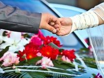 Wedding theme, holding hands Stock Photo