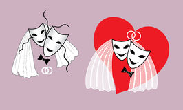Wedding thiatrical mask Royalty Free Stock Photos