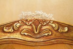 Wedding tiara on antique chair Stock Photography