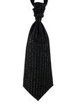 Wedding tie for men. Pinstripe, black isolated Royalty Free Stock Images