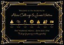 Wedding timeline background. A vintage wedding timeline background stock illustration
