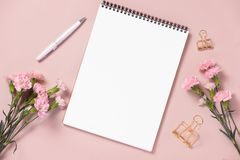 Wedding to do list with flowers. Mockup planner flat lay. Wedding to do list with flowers. Mockup planner flat lay royalty free stock images