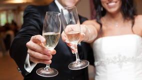 Wedding toast. Bride and Groom wedding toast Royalty Free Stock Images
